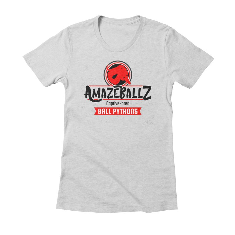 AmazeBallz Women's Fitted T-Shirt by Drawn to Scales