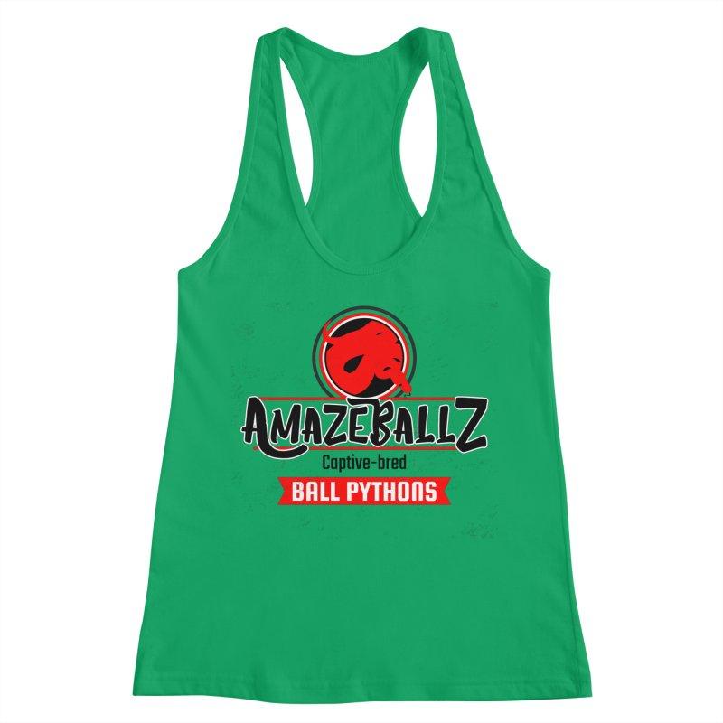 AmazeBallz Women's Racerback Tank by Drawn to Scales