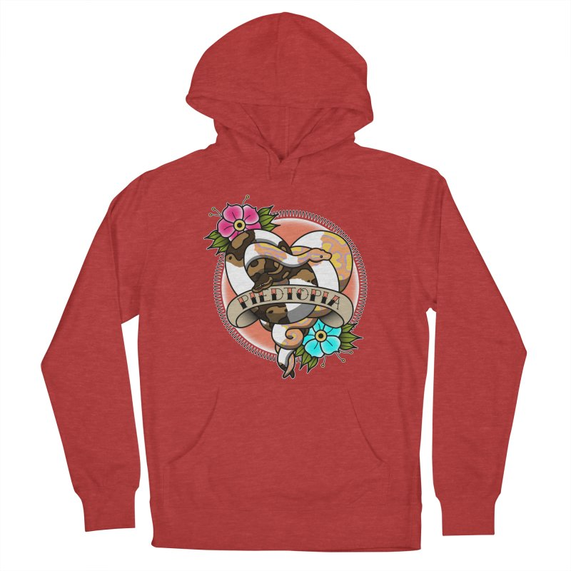 Piedtopia Women's French Terry Pullover Hoody by Drawn to Scales
