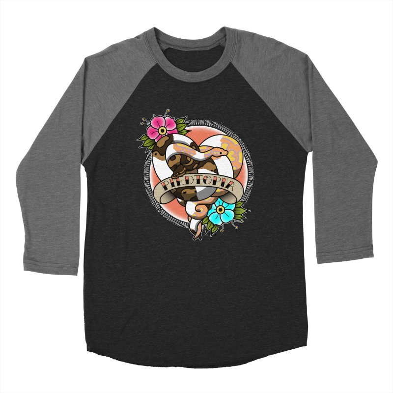 Piedtopia Men's Baseball Triblend Longsleeve T-Shirt by Drawn to Scales