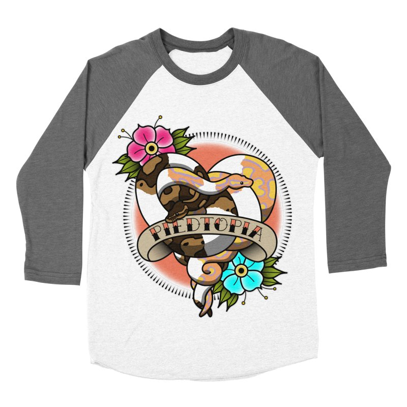 Piedtopia Women's Baseball Triblend Longsleeve T-Shirt by Drawn to Scales