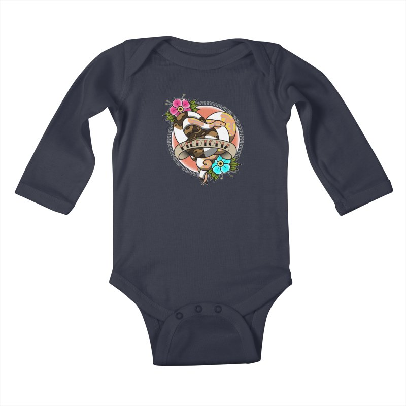Piedtopia Kids Baby Longsleeve Bodysuit by Drawn to Scales