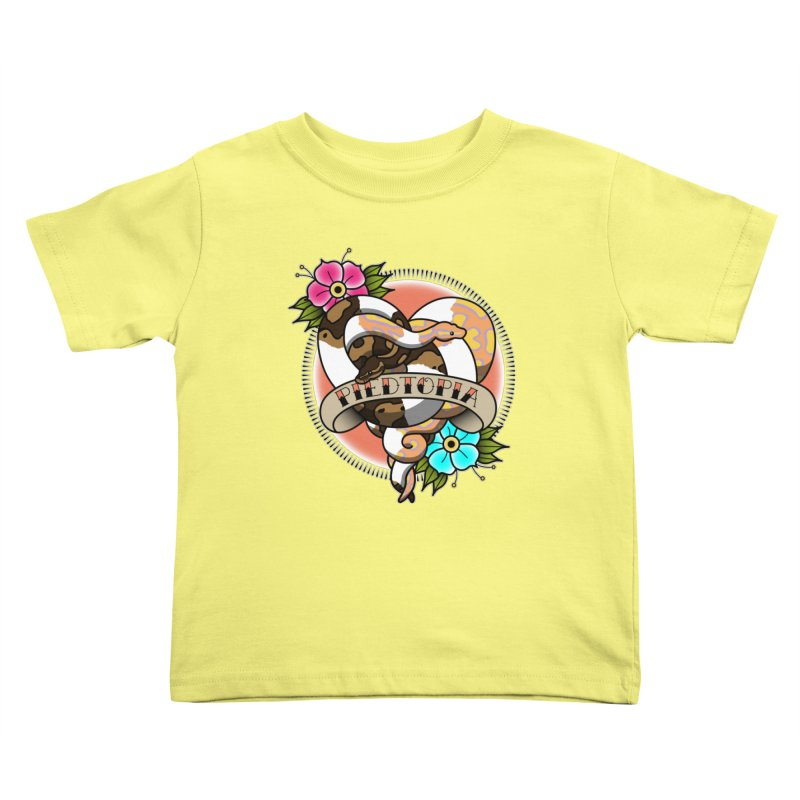 Piedtopia Kids Toddler T-Shirt by Drawn to Scales