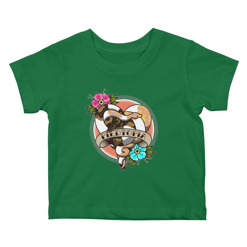 Piedtopia Kids Baby T-Shirt by Drawn to Scales