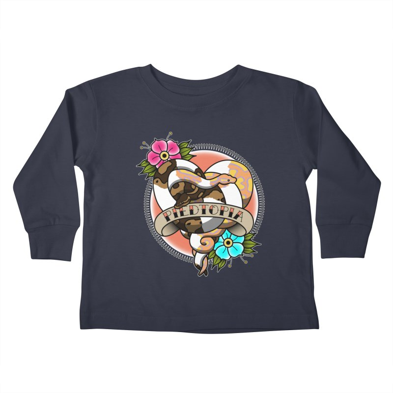 Piedtopia Kids Toddler Longsleeve T-Shirt by Drawn to Scales