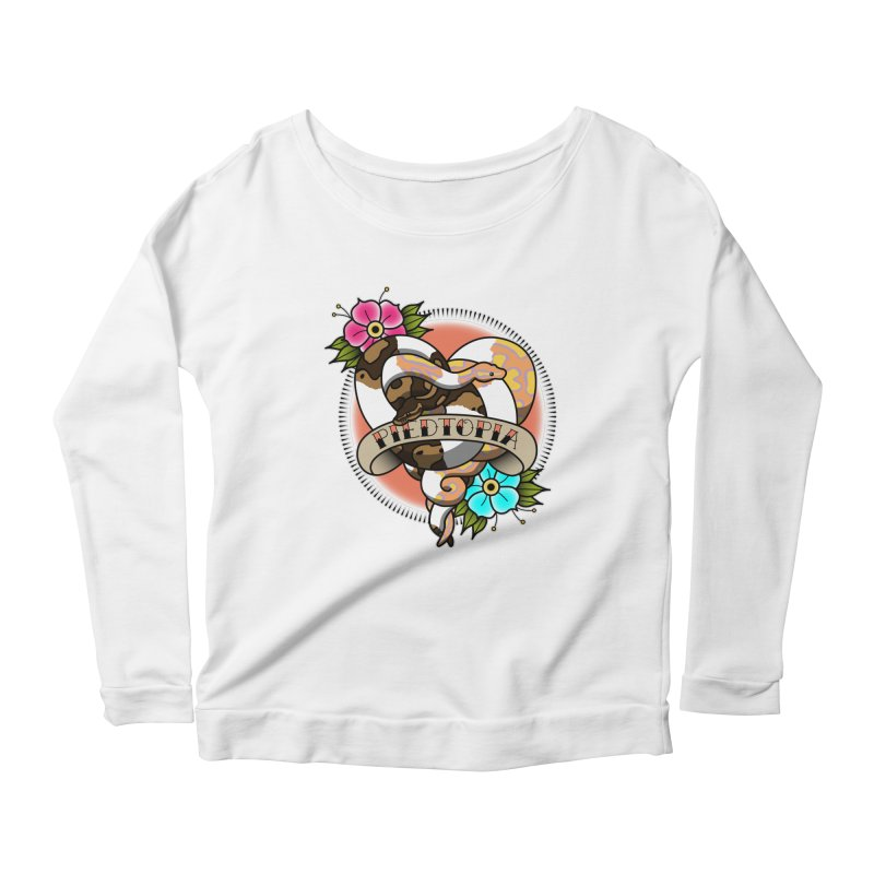 Piedtopia Women's Scoop Neck Longsleeve T-Shirt by Drawn to Scales