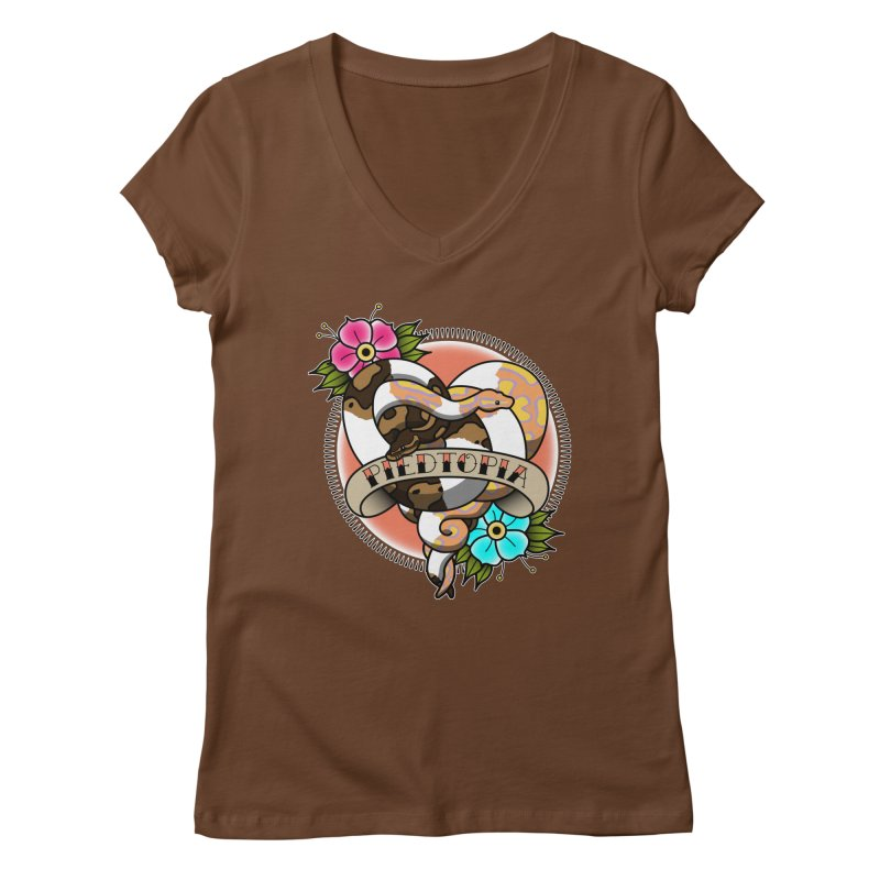 Piedtopia Women's Regular V-Neck by Drawn to Scales