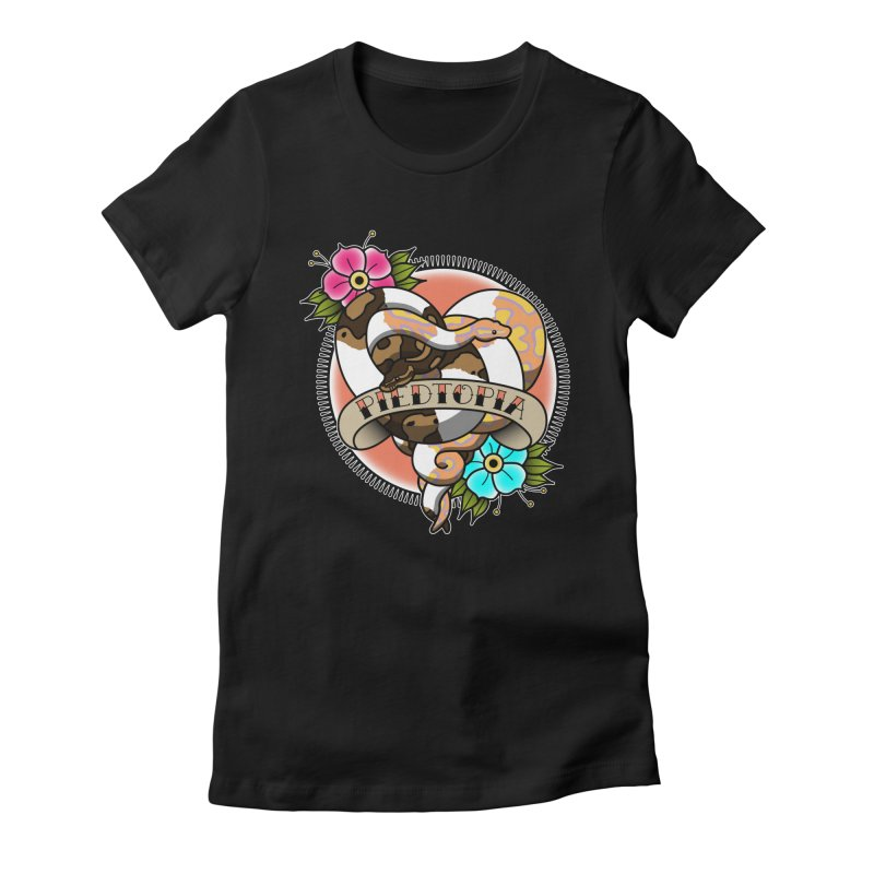 Piedtopia Women's Fitted T-Shirt by Drawn to Scales