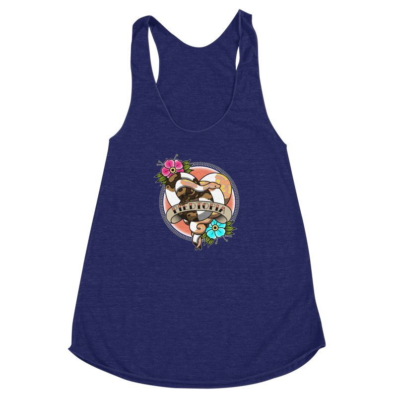 Piedtopia Women's Racerback Triblend Tank by Drawn to Scales