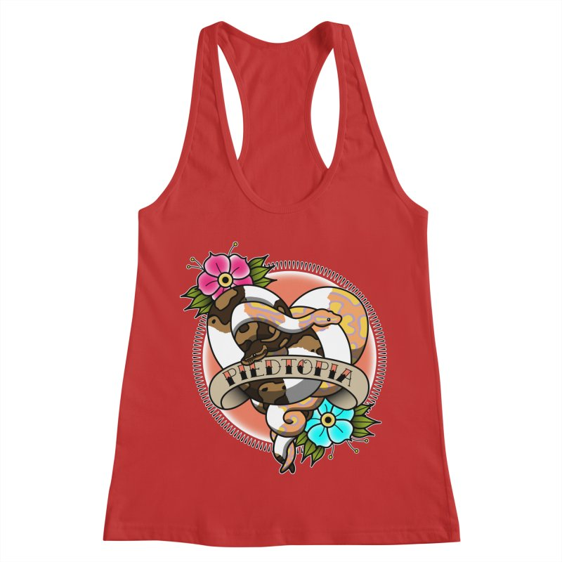 Piedtopia Women's Racerback Tank by Drawn to Scales