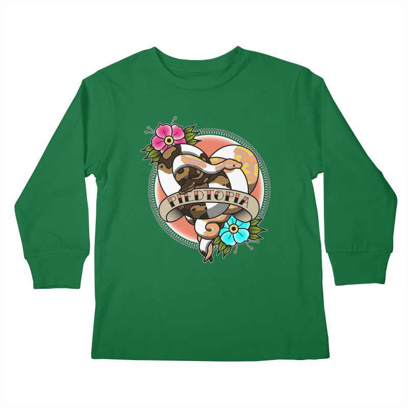 Piedtopia Kids Longsleeve T-Shirt by Drawn to Scales