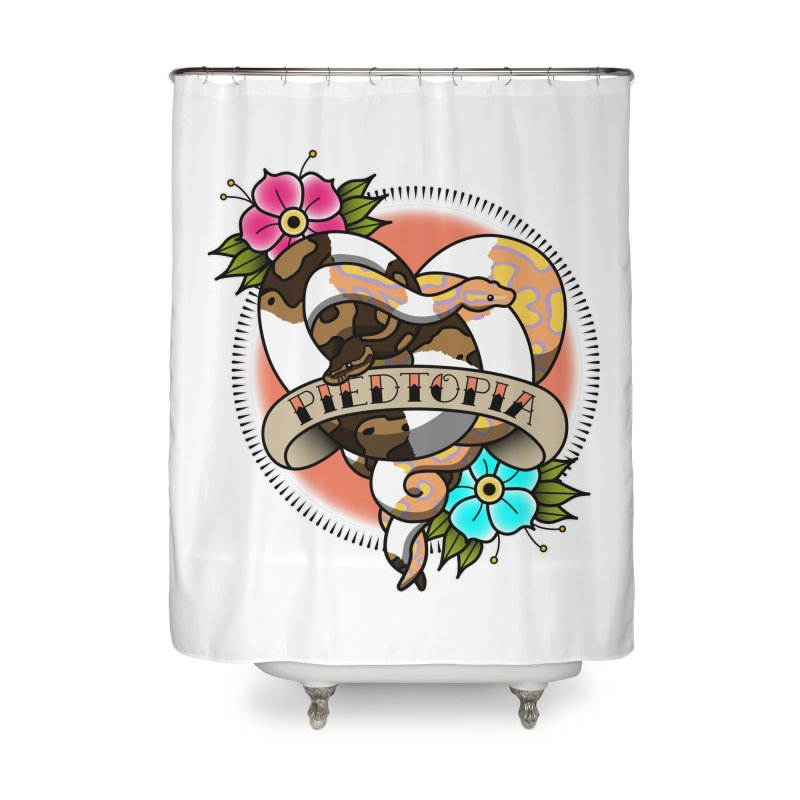 Piedtopia Home Shower Curtain by Drawn to Scales