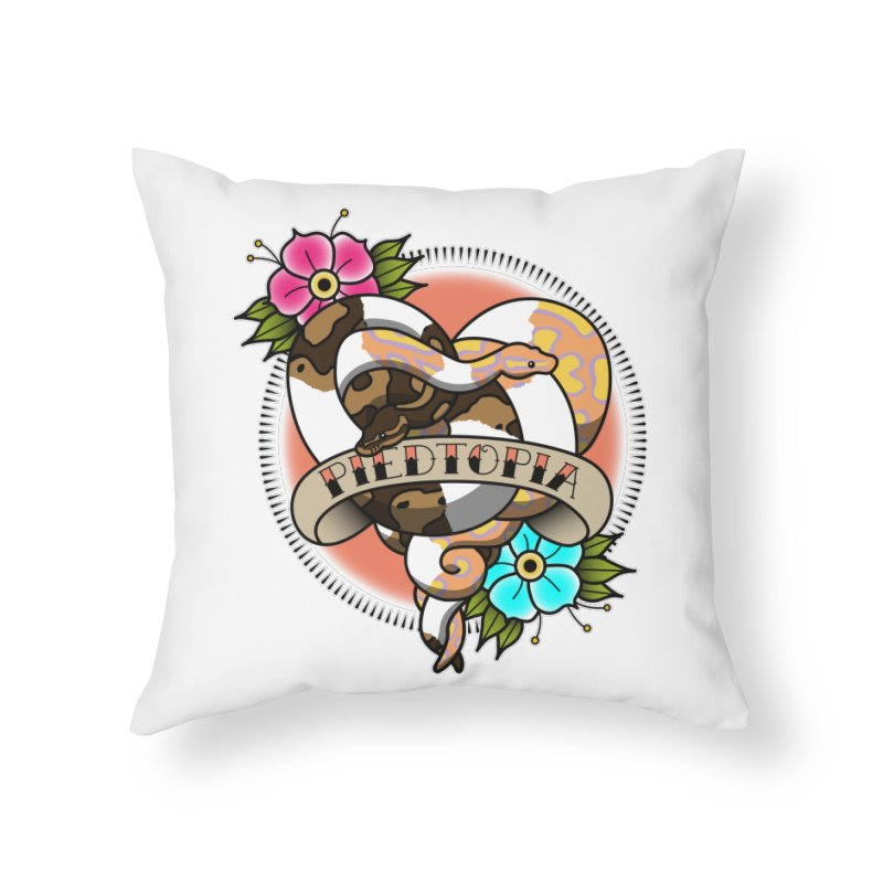 Piedtopia Home Throw Pillow by Drawn to Scales