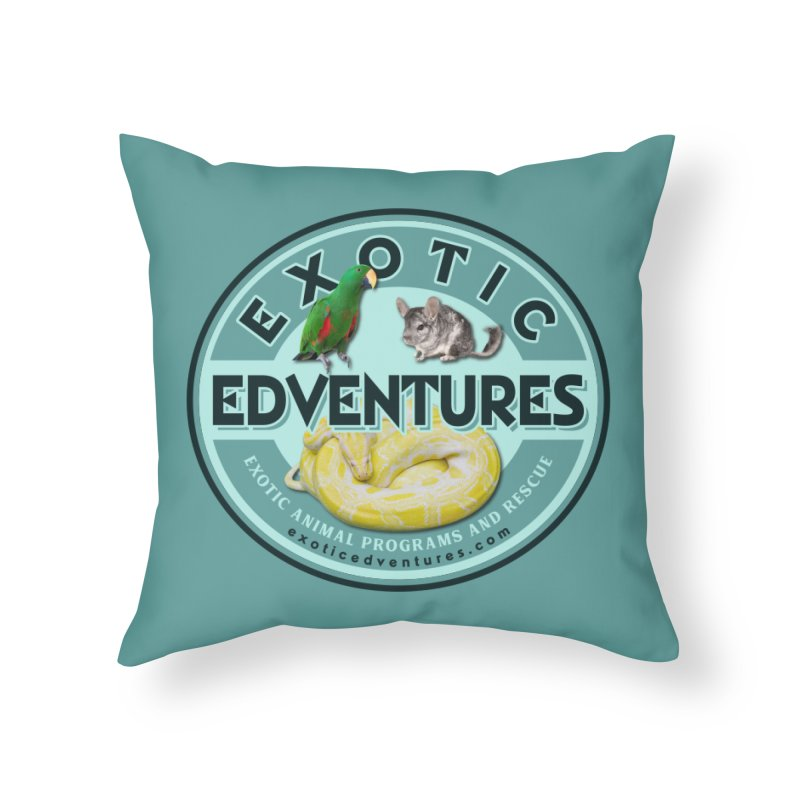 Exotic Adventures Home Throw Pillow by Drawn to Scales