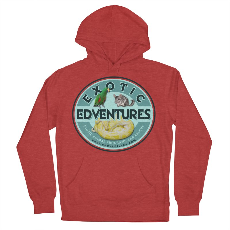 Exotic Adventures Men's French Terry Pullover Hoody by Drawn to Scales