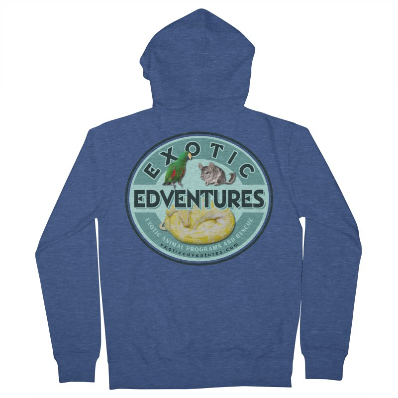 Exotic Adventures Men's French Terry Zip-Up Hoody by Drawn to Scales