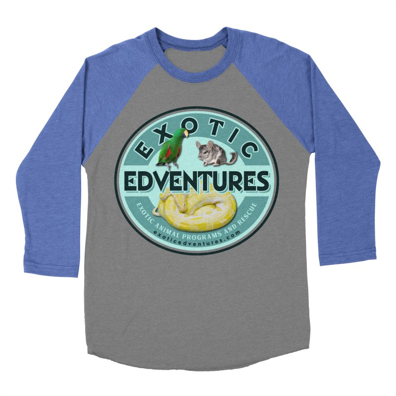Exotic Adventures Men's Baseball Triblend Longsleeve T-Shirt by Drawn to Scales