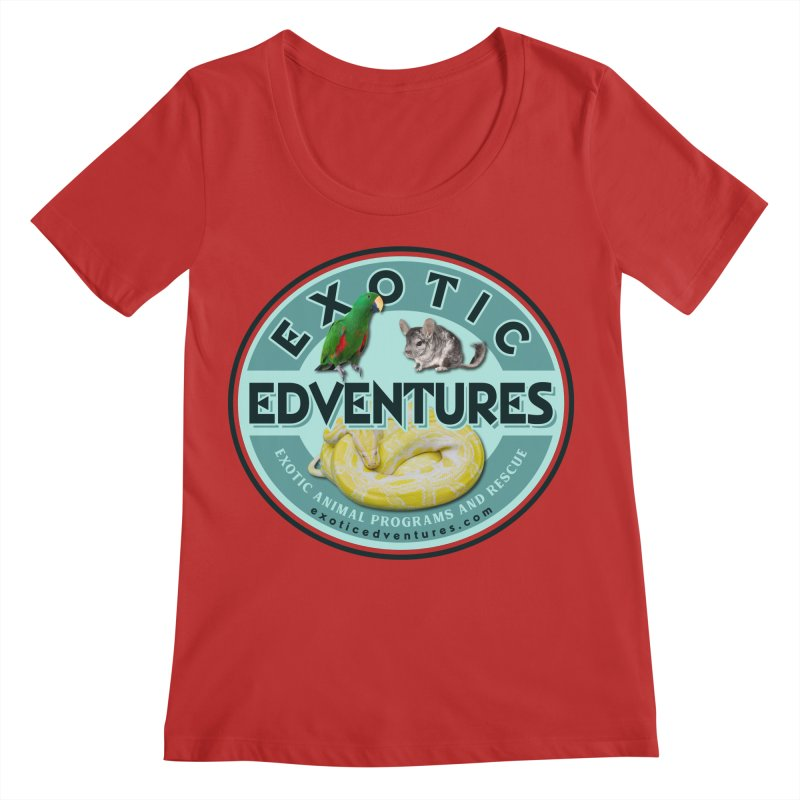 Exotic Adventures Women's Regular Scoop Neck by Drawn to Scales