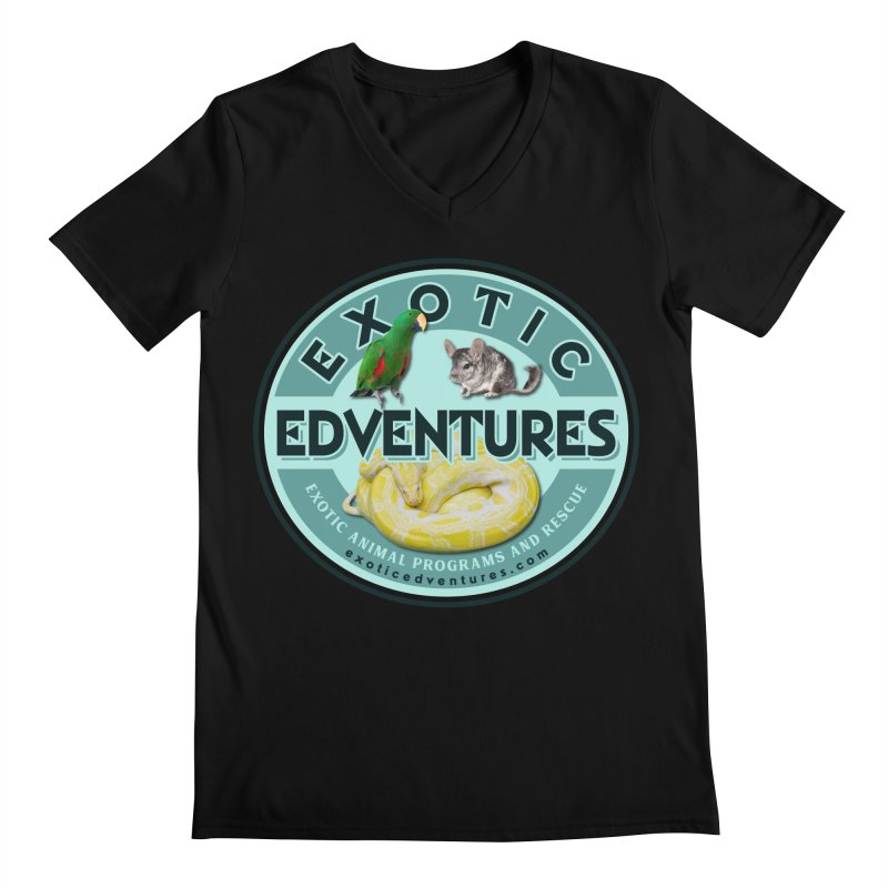 Exotic Adventures Men's Regular V-Neck by Drawn to Scales