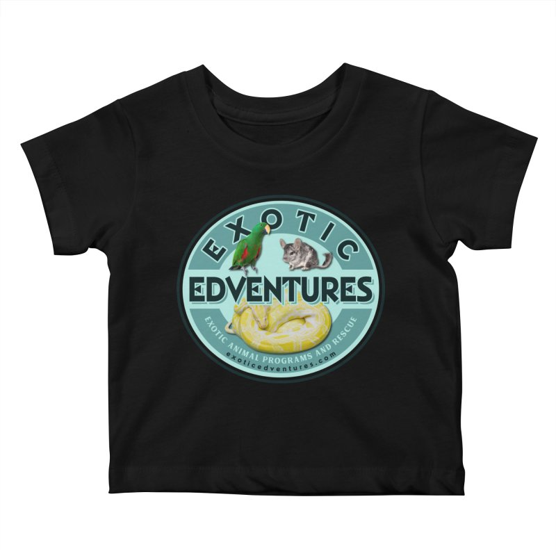 Exotic Adventures Kids Baby T-Shirt by Drawn to Scales