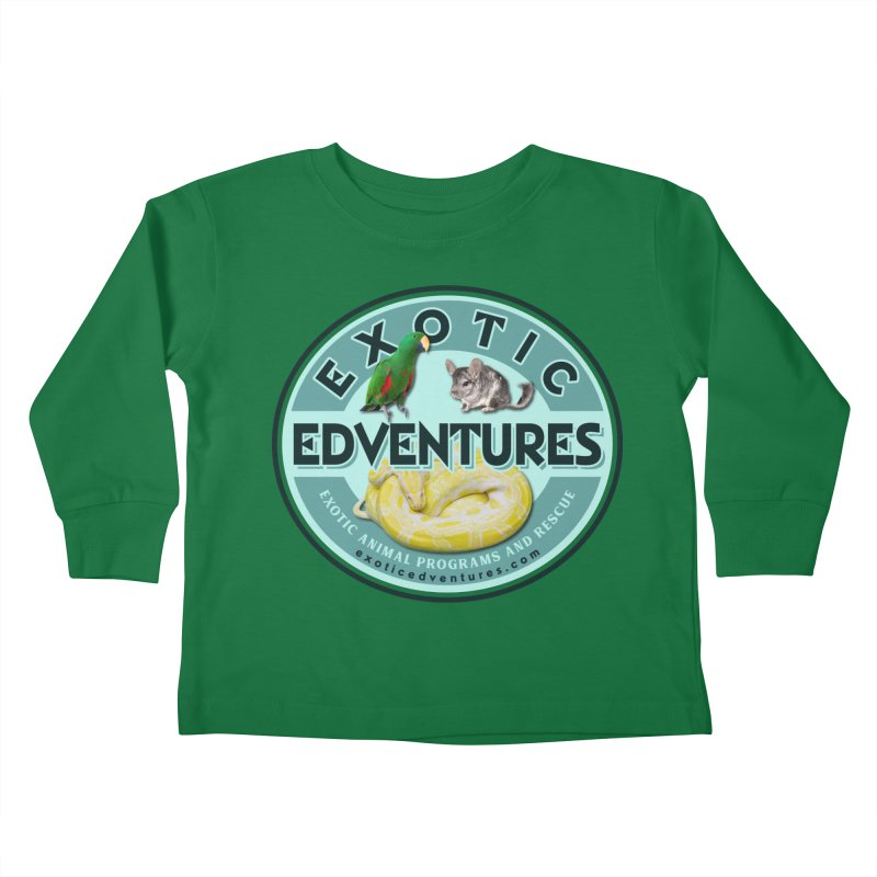 Exotic Adventures Kids Toddler Longsleeve T-Shirt by Drawn to Scales