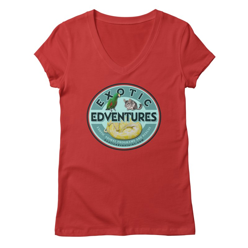 Exotic Adventures Women's Regular V-Neck by Drawn to Scales