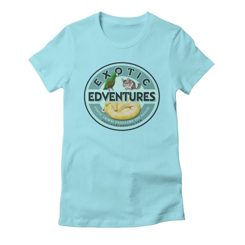 Exotic Adventures in Women's Fitted T-Shirt Cancun by Drawn to Scales