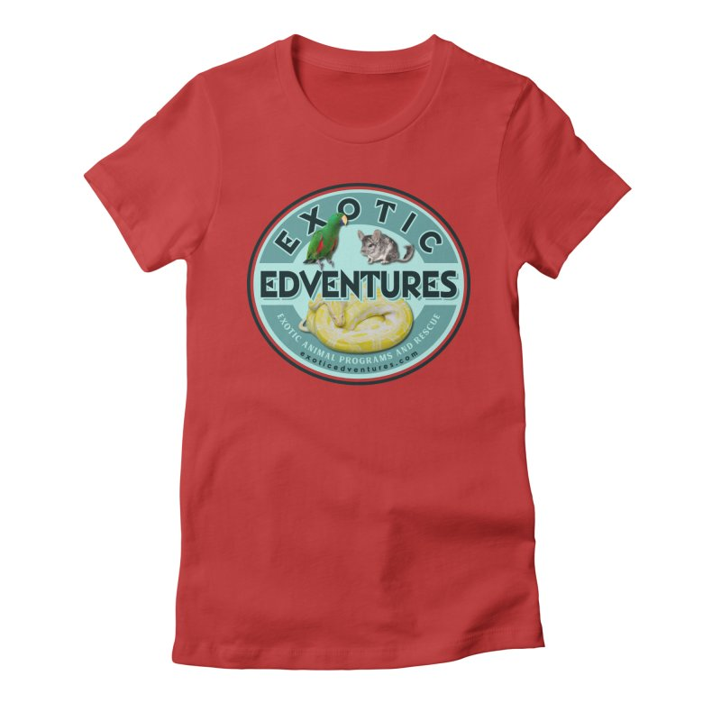 Exotic Adventures Women's Fitted T-Shirt by Drawn to Scales