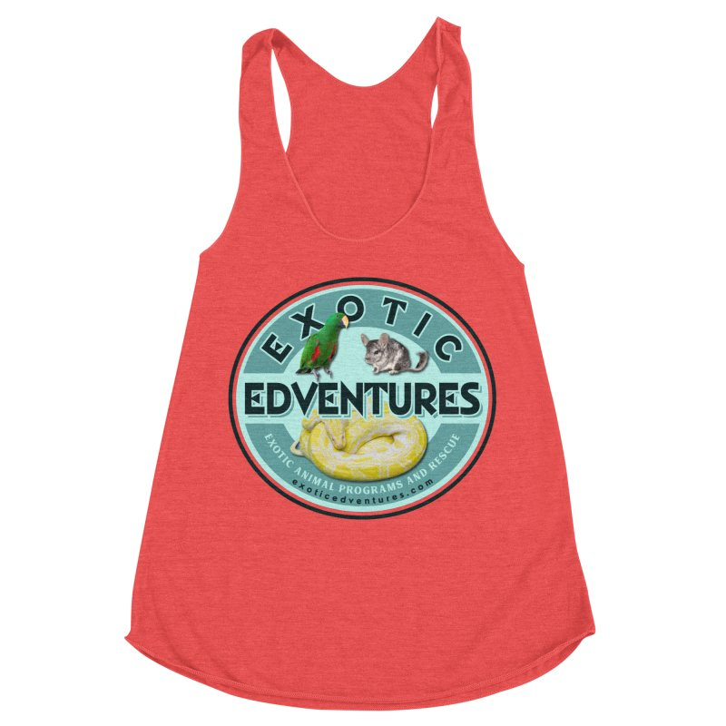 Exotic Adventures Women's Racerback Triblend Tank by Drawn to Scales