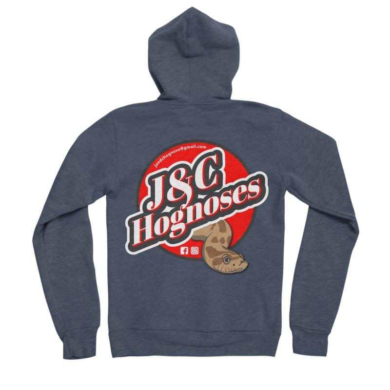 J&C Hognose Men's Sponge Fleece Zip-Up Hoody by Drawn to Scales