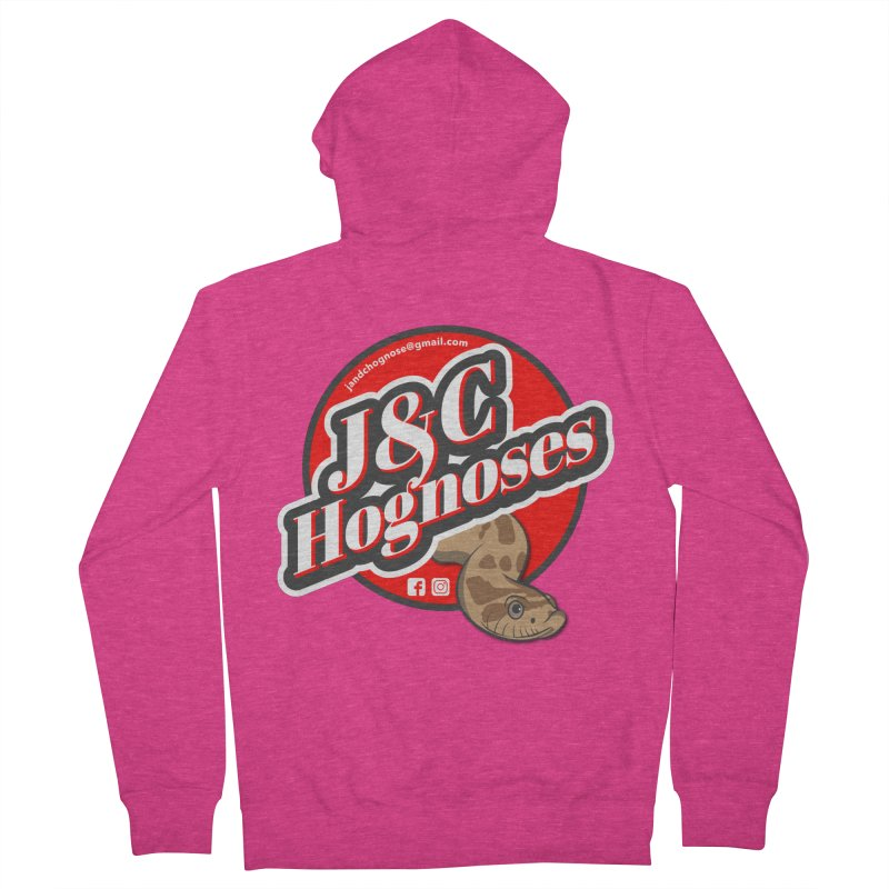J&C Hognose Women's French Terry Zip-Up Hoody by Drawn to Scales