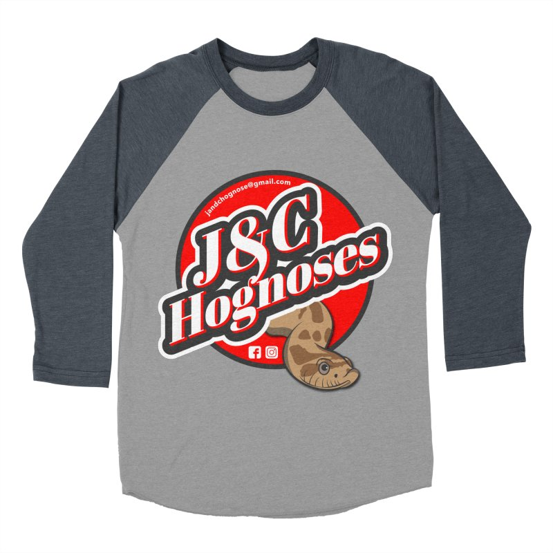 J&C Hognose Men's Baseball Triblend Longsleeve T-Shirt by Drawn to Scales