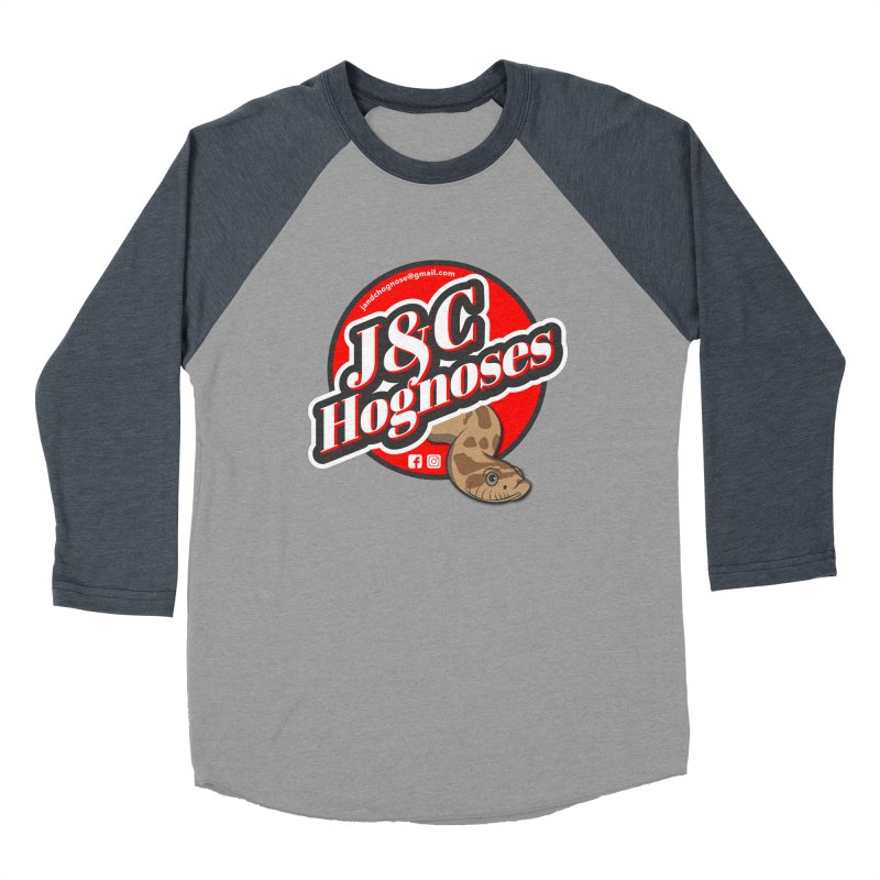 J&C Hognose Men's Baseball Triblend Longsleeve T-Shirt by Drawn to Scales