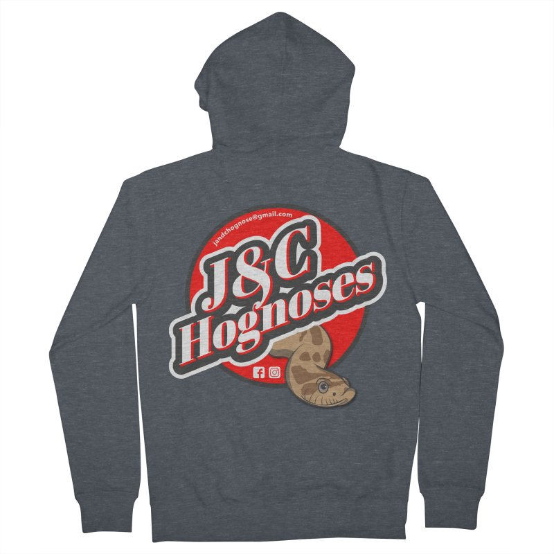 J&C Hognose Men's French Terry Zip-Up Hoody by Drawn to Scales