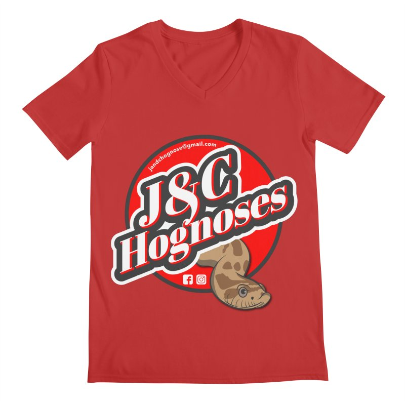 J&C Hognose Men's Regular V-Neck by Drawn to Scales
