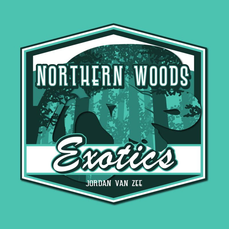 Northern Woods Exotics Men's Sweatshirt by Drawn to Scales