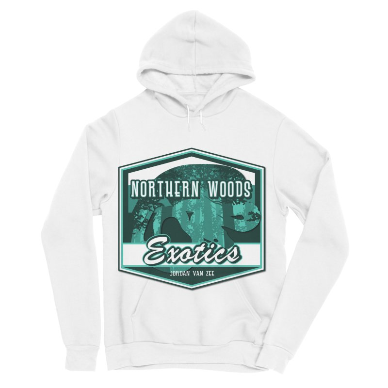 Northern Woods Exotics Men's Sponge Fleece Pullover Hoody by Drawn to Scales