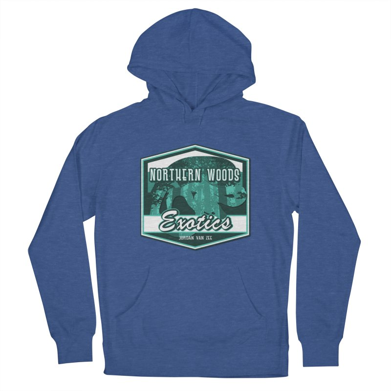 Northern Woods Exotics Men's French Terry Pullover Hoody by Drawn to Scales