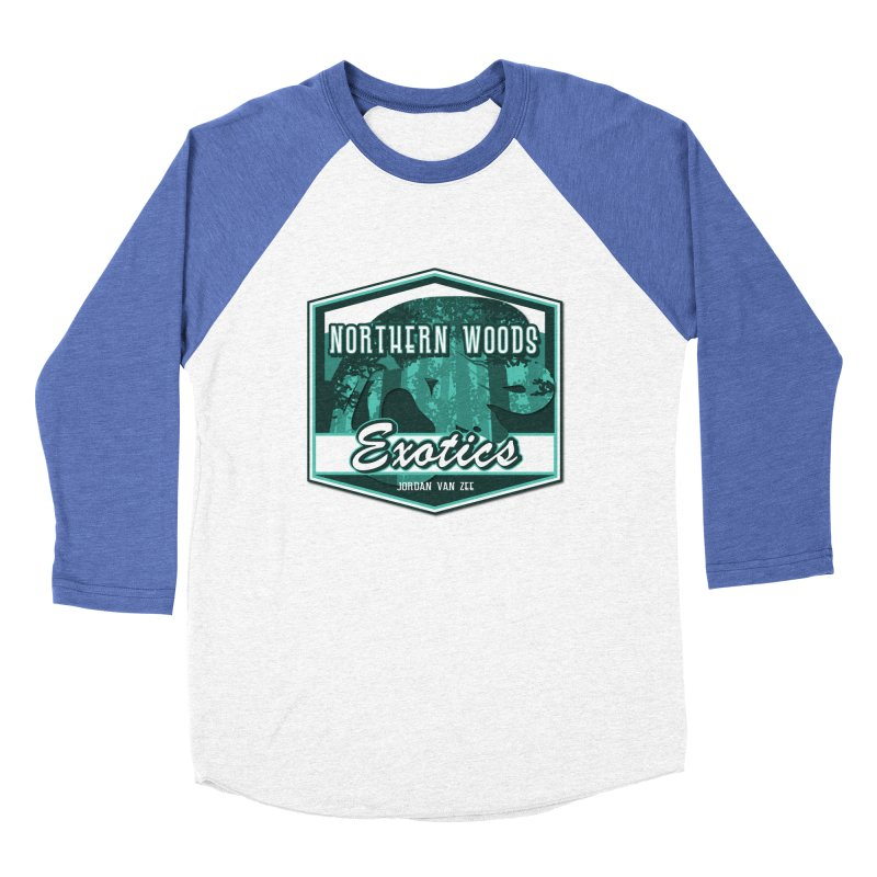 Northern Woods Exotics Men's Baseball Triblend Longsleeve T-Shirt by Drawn to Scales