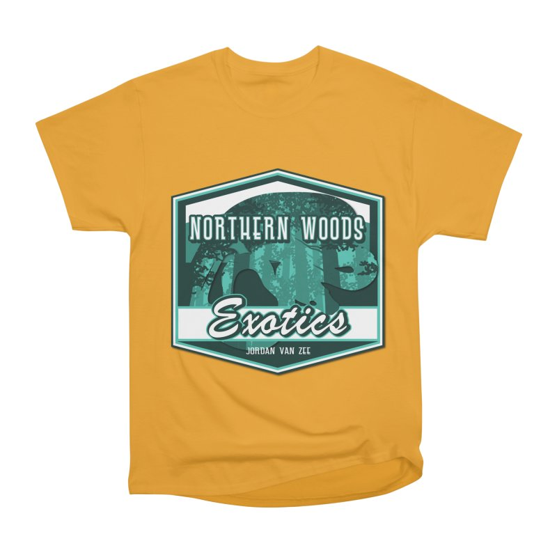 Northern Woods Exotics Men's Heavyweight T-Shirt by Drawn to Scales