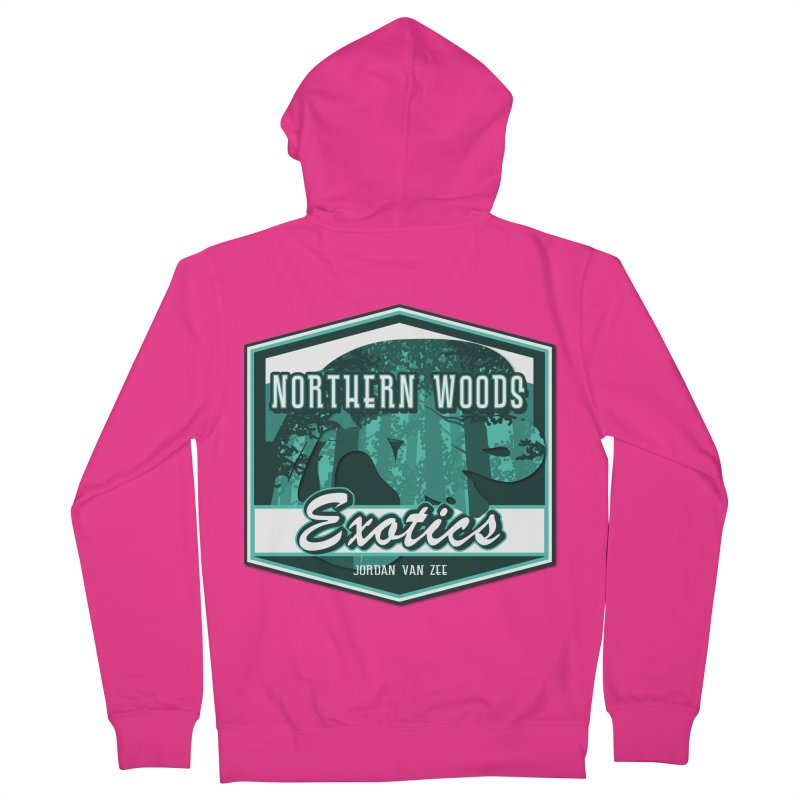 Northern Woods Exotics Men's French Terry Zip-Up Hoody by Drawn to Scales