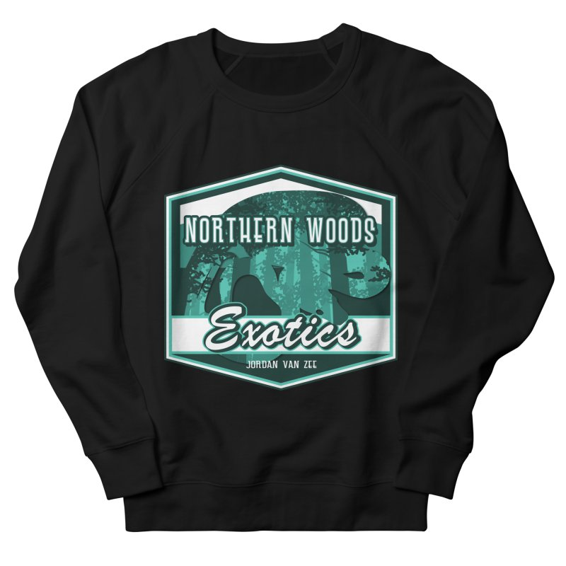 Northern Woods Exotics Men's French Terry Sweatshirt by Drawn to Scales