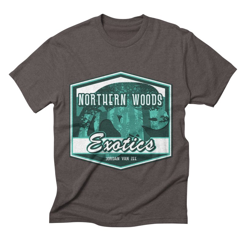 Northern Woods Exotics Men's Triblend T-Shirt by Drawn to Scales