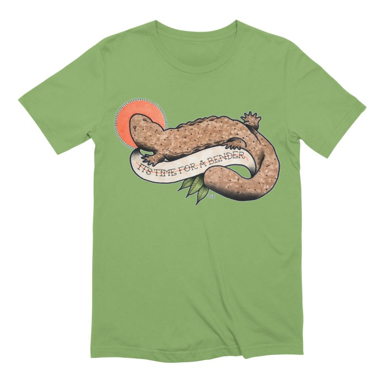 It's Time for a Bender Men's Extra Soft T-Shirt by Drawn to Scales
