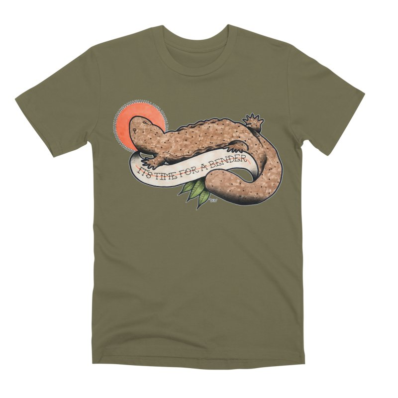 It's Time for a Bender Men's Premium T-Shirt by Drawn to Scales