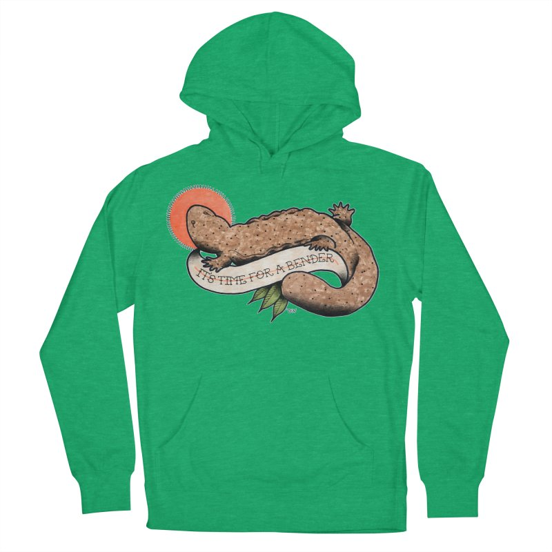 It's Time for a Bender Men's French Terry Pullover Hoody by Drawn to Scales