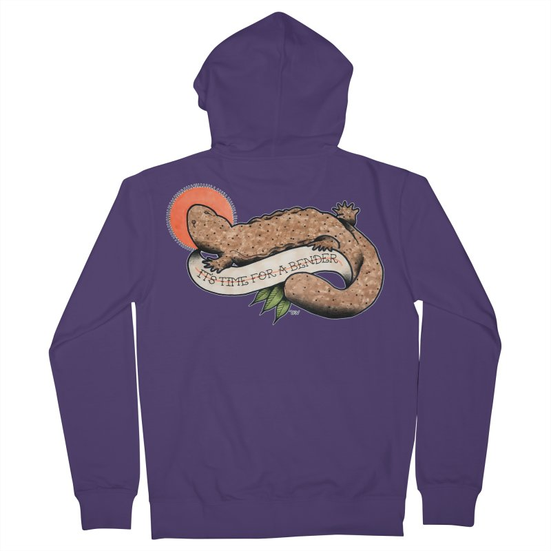 It's Time for a Bender Women's French Terry Zip-Up Hoody by Drawn to Scales