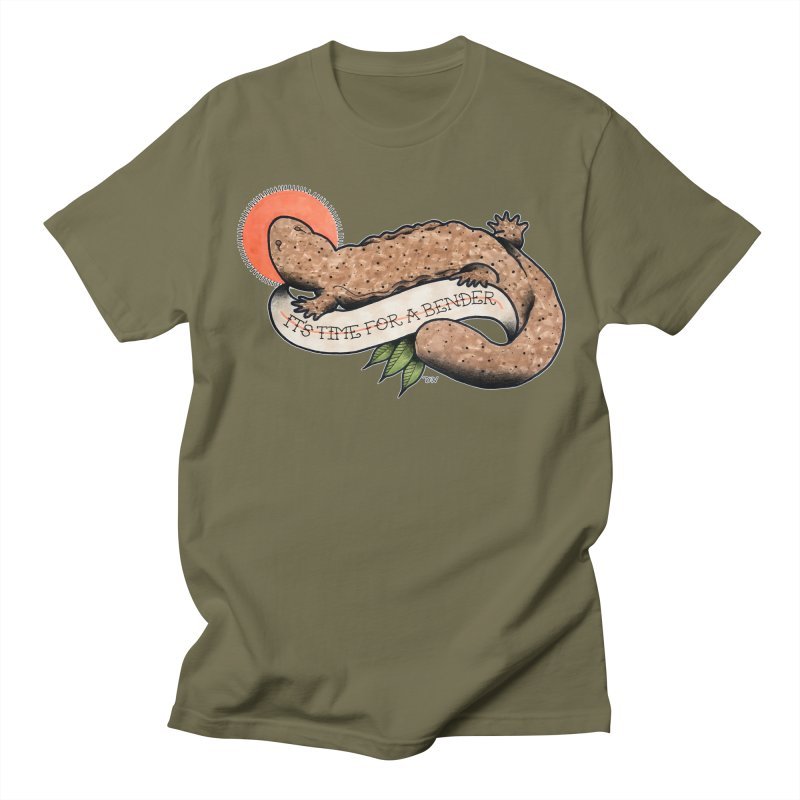It's Time for a Bender Men's Regular T-Shirt by Drawn to Scales
