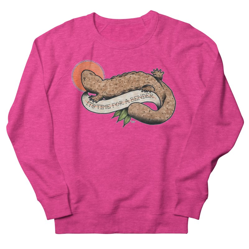 It's Time for a Bender Women's French Terry Sweatshirt by Drawn to Scales
