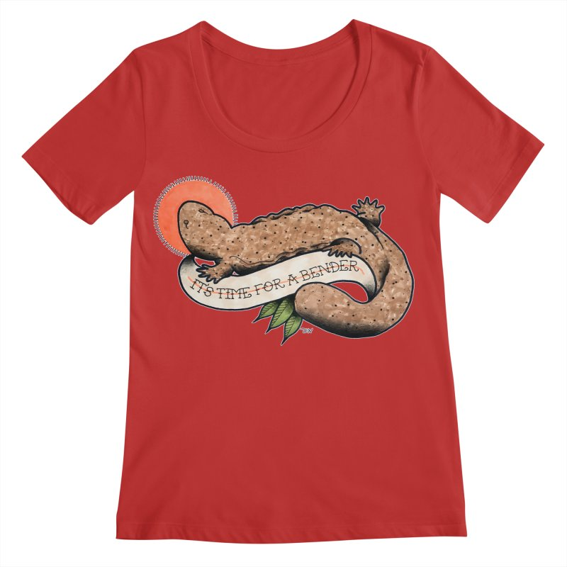 It's Time for a Bender Women's Regular Scoop Neck by Drawn to Scales
